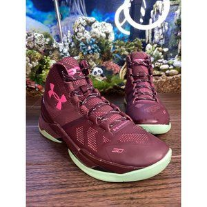 9.5 Under Armour Mens Curry 2 BHM 1259007-602 Wine